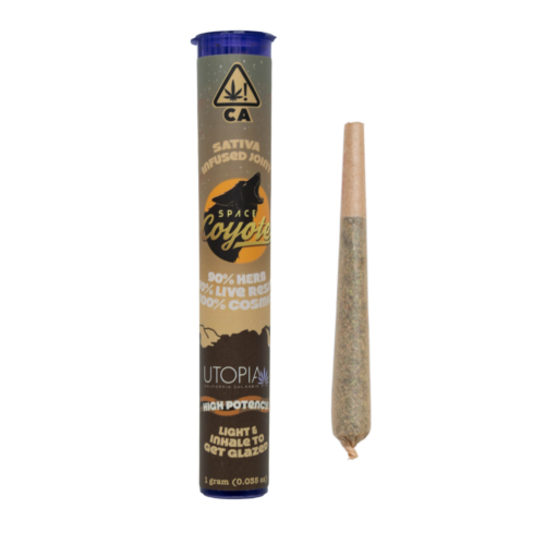 Space Coyote Diamonds – INFUSED Pre-Roll – Indica 1g